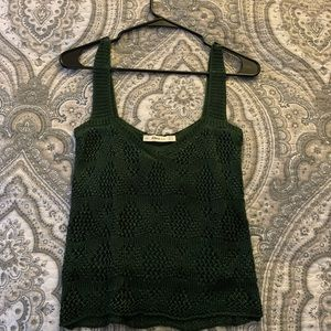 Zara Green Lace Crop Top